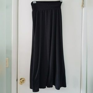 Joe B Long Black Maxi Skirt